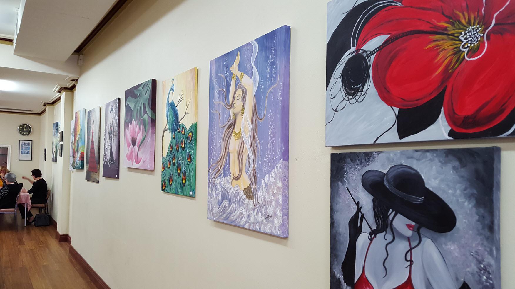 More colour along the wall