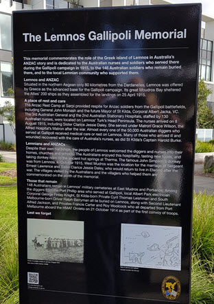 Plaque covering the history of the Memorial