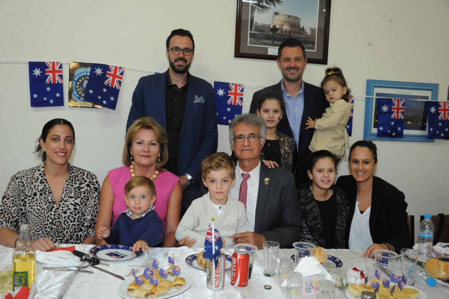 Mr & Mrs Mavroudis family with their two sons, their daughters-in-law and grandchildren