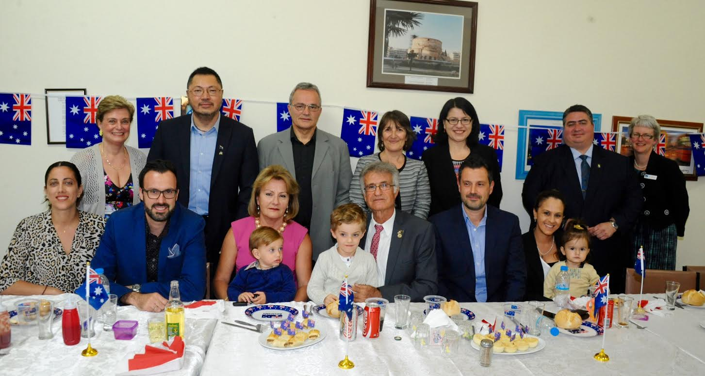Participants at the special event including committee members, Mr Chin Tan, Hon Jenny Mikakos, Hon Lee tarlamis, Jane Sharwood from the City of Melbourne and the Mavroudis family