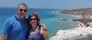 Iakovos with wife Andrea